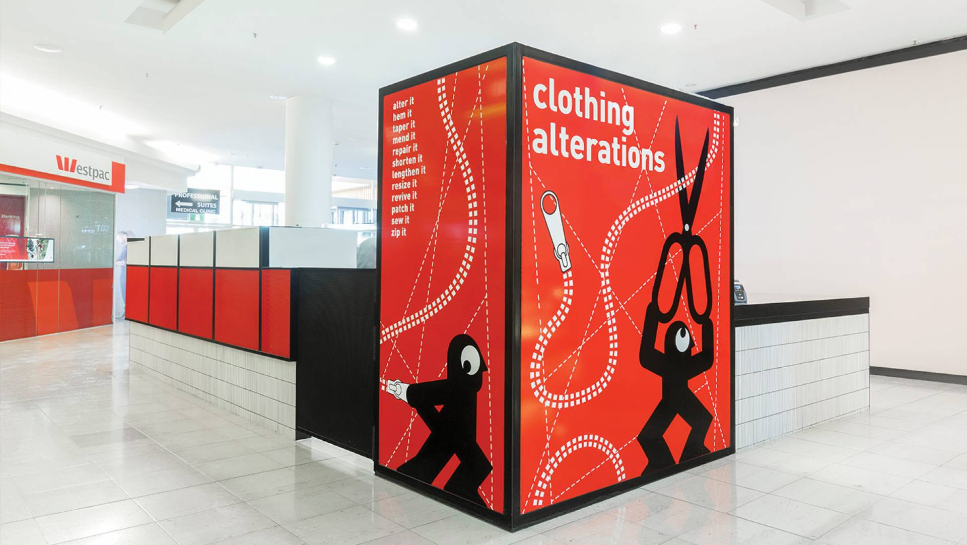 Alter It Clothing Alterations - Kiosk Design
