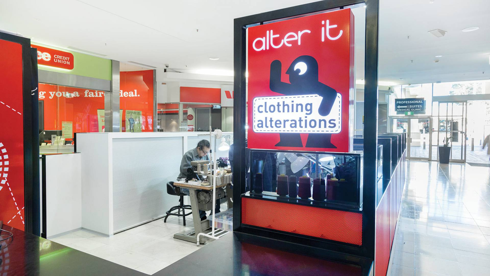 Alter It Clothing Alterations - Kiosk Design -  Signage Detail