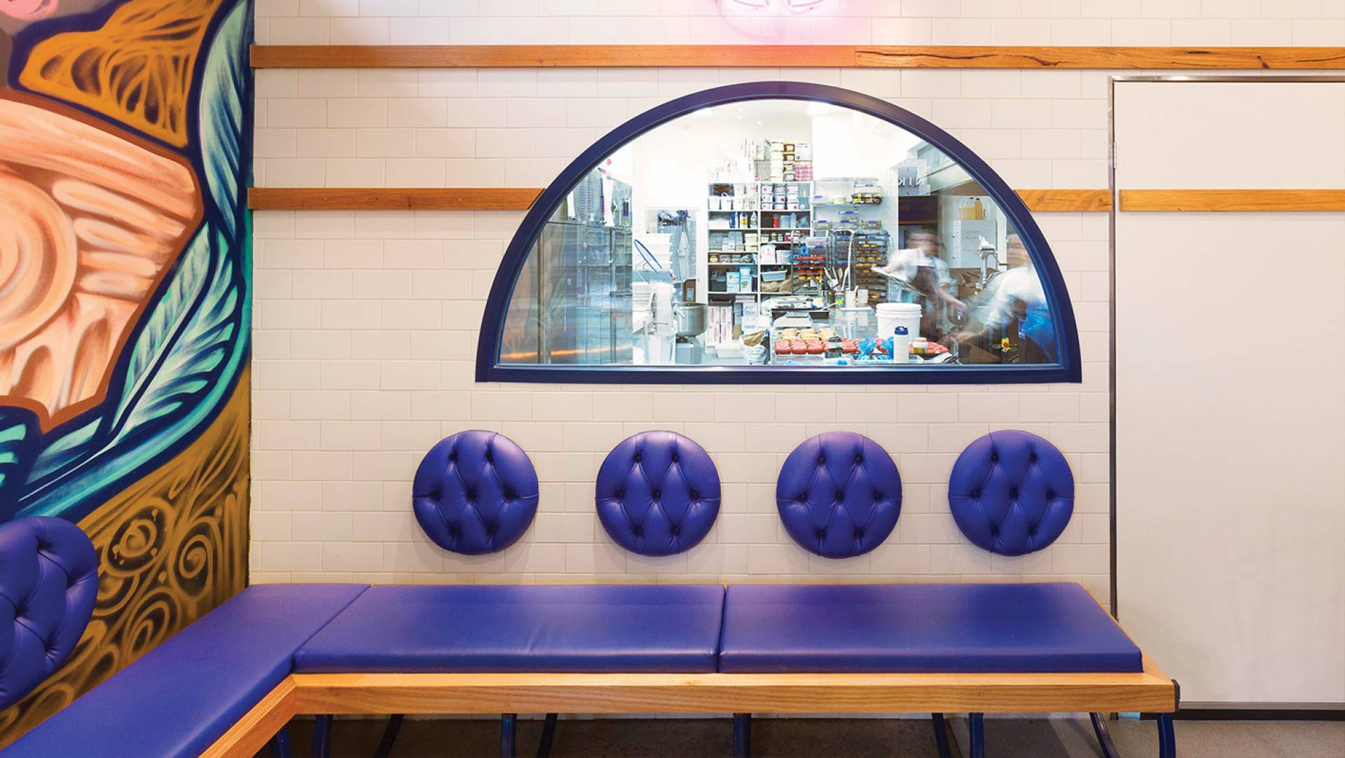 Doughnut & Cafe Design Melbourne-Oakleigh Doughnut Co TODCO Designer: Custom Furniture