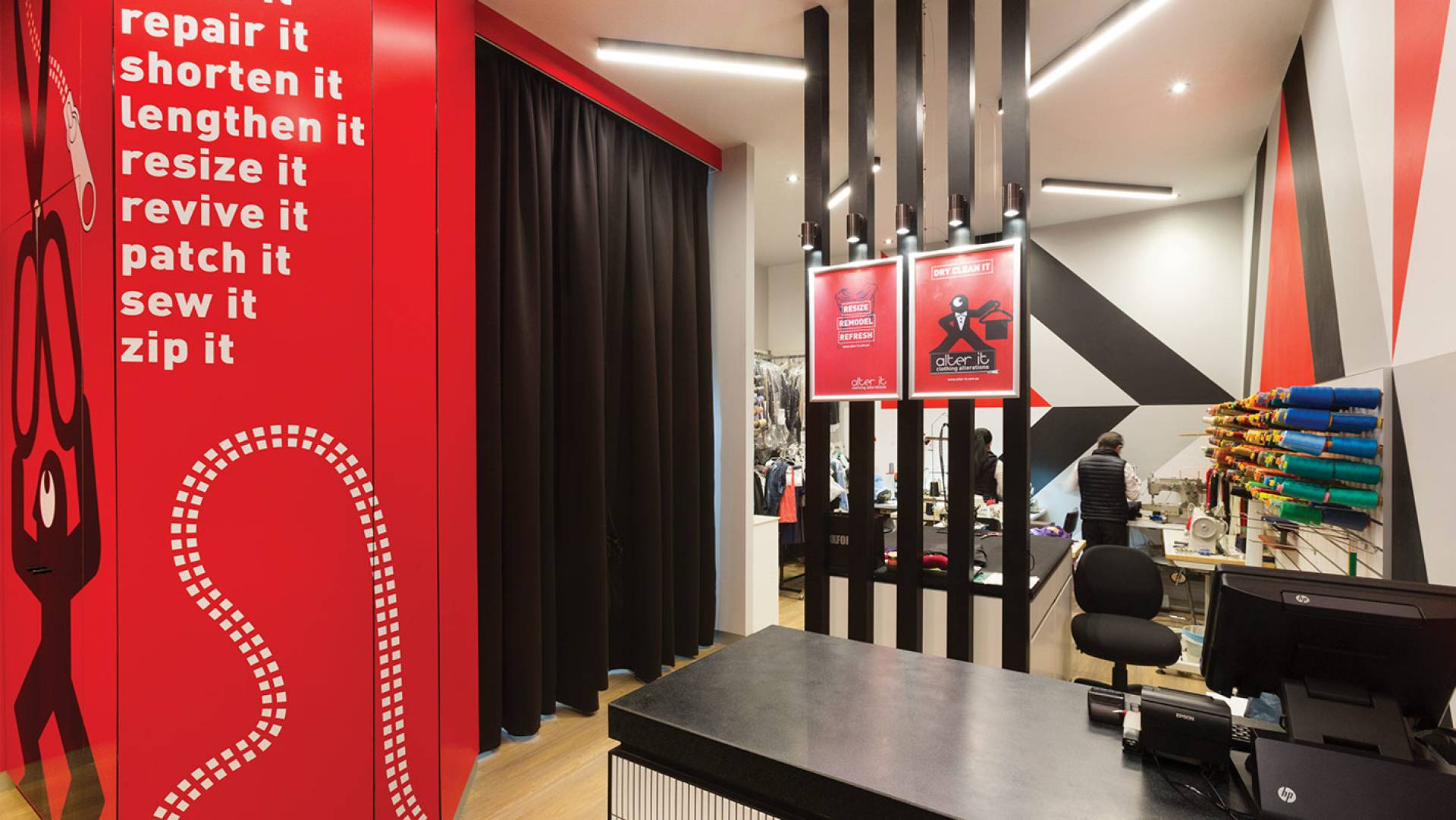 Alter It Clothing Alterations - Store Design