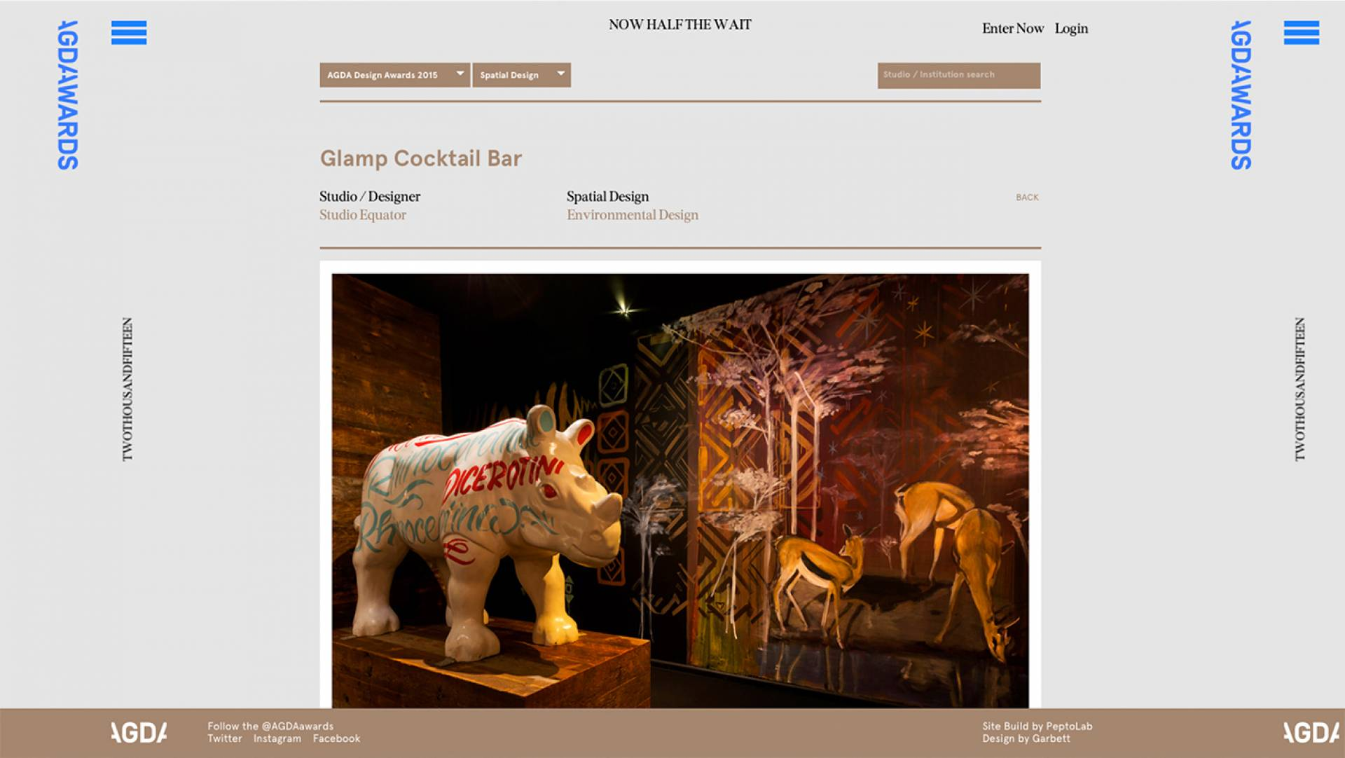 AGDA Awards 2015 Finalists Spatial Design-Glamp Cocktail Bar