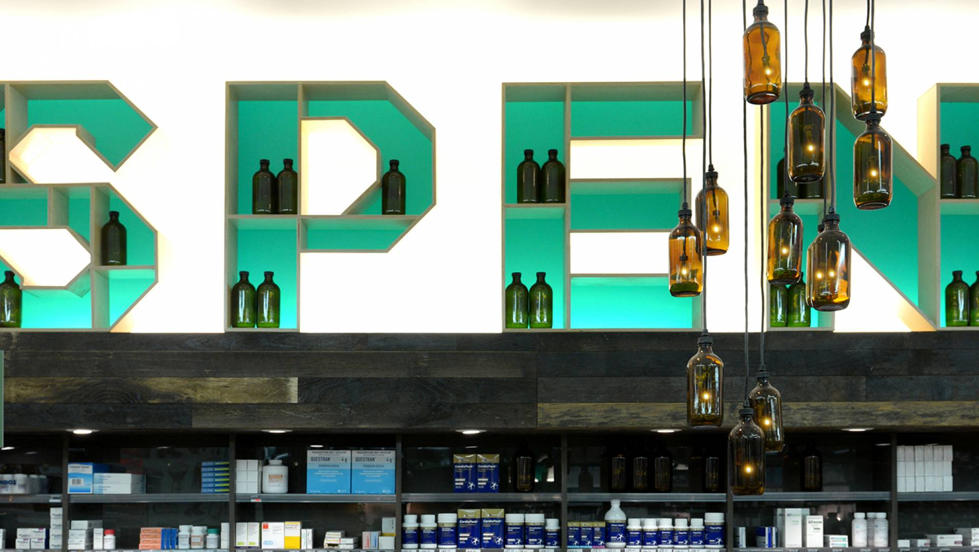 Pharmacy Design Melbourne-Custom Sculptural Signage & Lighting