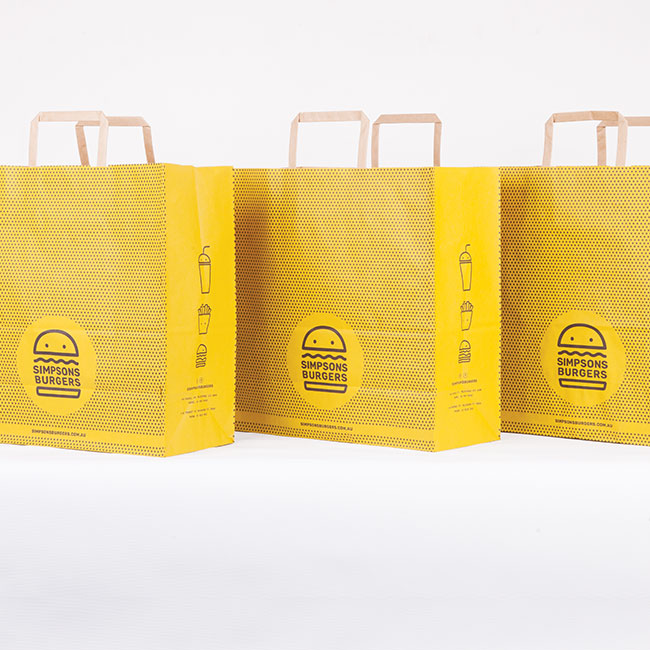 Simpsons Burgers Visual Identity and Food Packaging Design
