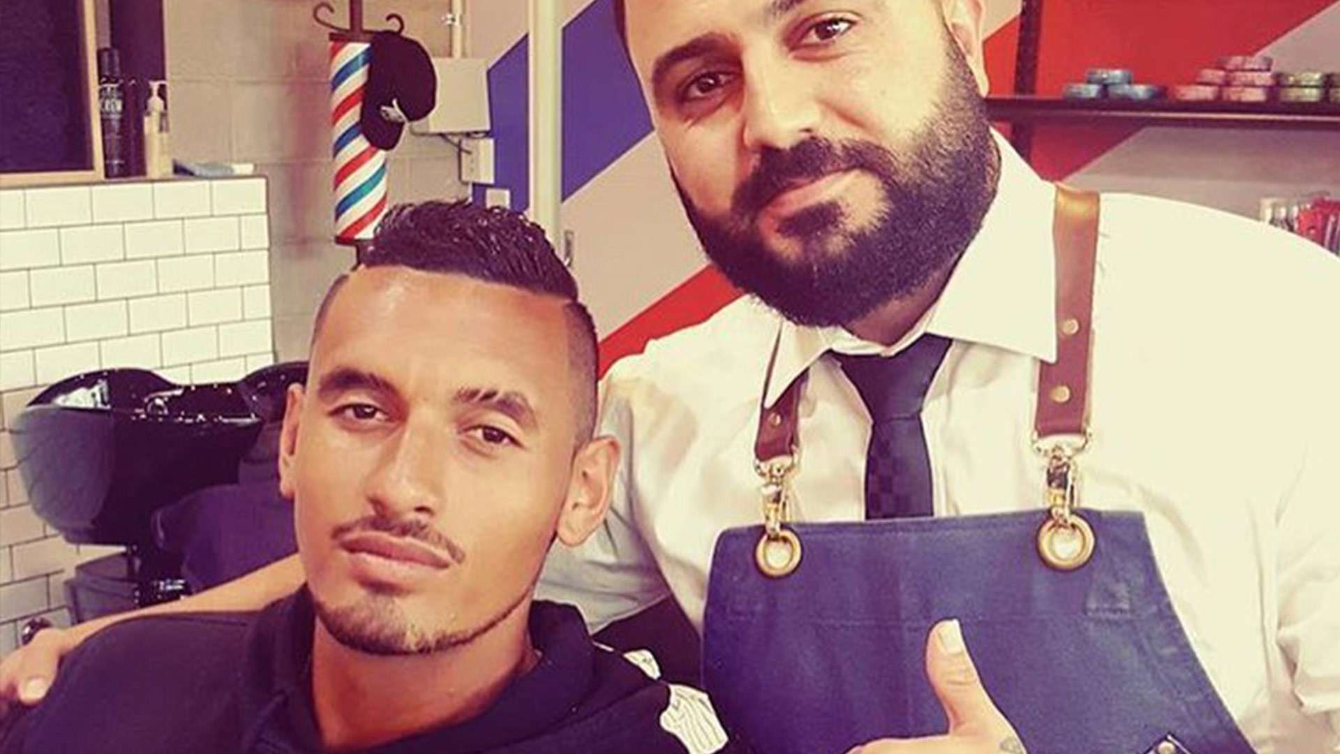 Nick Kyrgios is spotted getting his hair style at Dapper Gents Barbershop