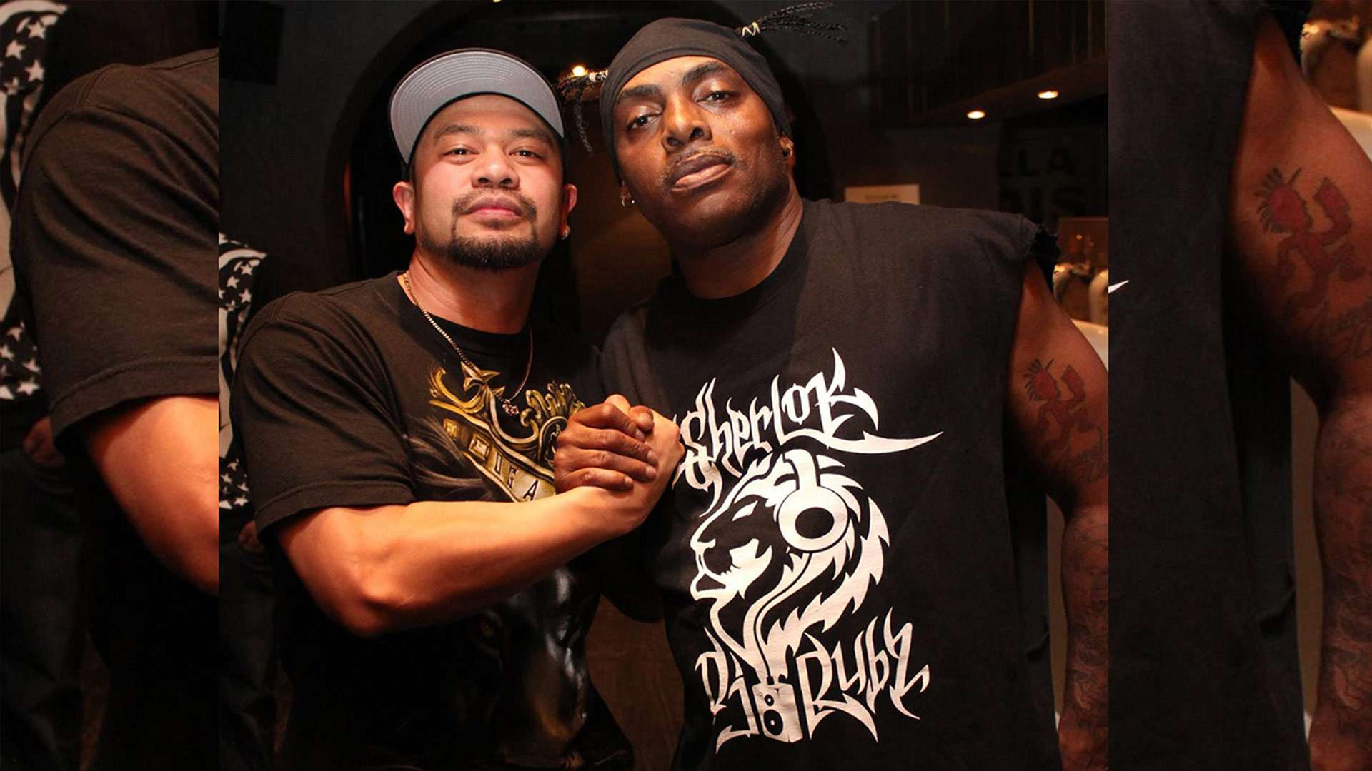 The One & Only Coolio spotted sporting our work done by the Aussie Hip Hop Legends: Sherlock & Dj Rubz